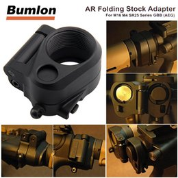 Wholesale Airsoft M4 Gbb - Tactical AR Folding Stock Adapter Airsoft Hunting Accessory For M16 M4 SR25 Series GBB(AEG) 2-0042