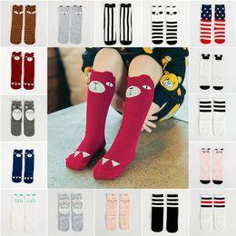 Wholesale Girls Socks Years Old - 0-6 years old kids cartoon Animal leg warmers baby girls boys knee high Totoro Panda Fox socks kids cute Striped Knee socks LA579