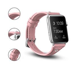 2019 sostituzioni di diamanti Cinturino per Apple iWatch 4 Diamond Wristband Smart Straps per Series 2/3 42MM 38 MM pelle morbida Ricambio Wristband Diamond top quality sostituzioni di diamanti economici
