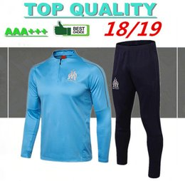 0024983d9dc thai quality 18 19 Olympique de Marseille jacket tracksuit kits 2018 2019  PAYET L.GUSTAVO THAUVIN soccer training suit football shirts cheap shirt  full