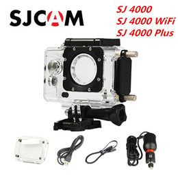 Original SJCAM Waterproof Case Housing For SJ4000   SJ4000 WiFi   Plus Action Camera Motorcycle Car Charger Included Coupon