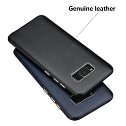 Wholesale Making Textures - For Samsung Galaxy S8 Plus Genuine Leather (Made of Sheepskin) Back Cover Case, Retro Style Matte Texture Luxury [Ultra Slim Handmade] Case