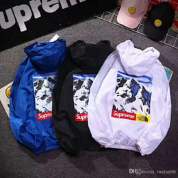 Wholesale hooded jackets for women - designer ripndip jackets for men women windbreakers hip hop outdoor sport bomber jacket streetwear thin windbreaker
