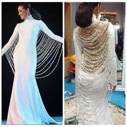 e4c87d43afa8 gold dress gown high neck Promo Codes - 2018 Long Muslim Middle East Dubai Evening  Dresses
