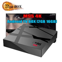 2gb ram 8gb bluetooth hdmi online-M9S 4K Android 6.0 Fernsehkasten Rk3229 Viererkabel-Kern 1GB RAM 8GB ROM HDMI Wifi IPTV Smart Fernsehkasten-Medien-Spieler 2GB 16GB Bluetooth