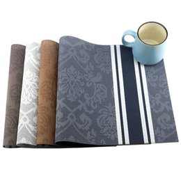 Wholesale Coloured Mugs Wholesale - 6 Pcs Lot 4 Colours Table Placemat Kitchen Accessories Placemats For Table Mat Drink Coasters Cup Dishes Mug Stand Kitchen Goods