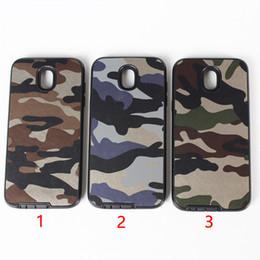 Skins camo iphone en Ligne-Couche hybride anti-rayures en cuir Camo pour Samsung S7 Edge S8 S9 Téléphone Armure Armure Peau Pour Iphone X 7 8 Plus, cas