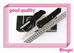 Wholesale good survival - GOOD Micro Version Cypher black folding Knife Blade:D2 (Blade Grind:Hollow) Handle:7075Aluminum,Outdoor camping survival knives EDC tool
