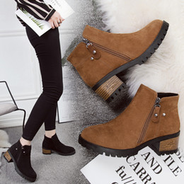 6943f5a819cb winter boots women new arrival low heel shoes woman martin booties korean  style botines mujer 2018 european brand hot low