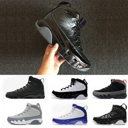 Wholesale New Tours - 2018 New 9 9s Bred LA basketball shoes Men Black Red Anthracite Tour Yellow PE 2010 RELEASE the spirit high sneakers sport shoes