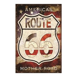 b8c1cac0b7be4 America s Route 66 Mother Road Decorative Retro Metal Poster Wall Cafe Bar  Cave Pub Garden Living Room Club Plaque Artside Pin Up Girl
