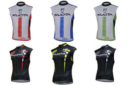 Wholesale Kuota Clothing - 2018 KUOTA Team Riding Cycling Cycling Clothing Men's Bicycle Sleeveless Summer Bike Breathable Sportswear camisa de ciclismo C1438