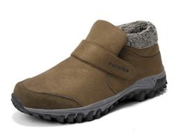 Zapato de invierno frío online-2018 botas de nieve de invierno botines cortos hombres zapatos de felpa zapatos calientes calzado antideslizante a prueba de frío