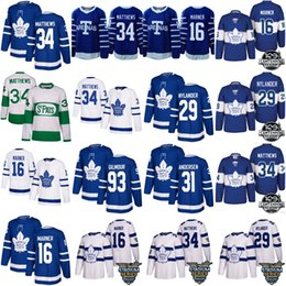 Wholesale Byfuglien Jersey - 2018 stadium series 100th Toronto Maple Leafs 34 Auston Matthews 16 Mitch Marner 29 william nylander 44 morgan rielly Andersen Hockey Jersey