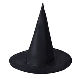Wholesale costumes for womens - Halloween Peaked Cap Womens Black Witch Hat For Halloween Costume Accessory Hot