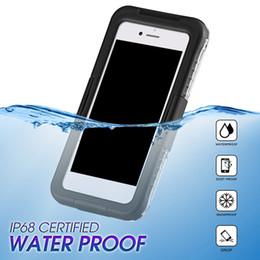 Nuevos casos móviles de llegada online-Nueva llegada IP68 a prueba de golpes a prueba de golpes a prueba de golpes del polvo del teléfono móvil para Samsung Galaxy S8 S8 Plus S9 S9plus iPhone 8 7 6 más 100pcs