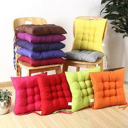 Almofadas de fezes on-line-Cor sólida Estudantes Cadeira Almofada Engrossar Fezes Almofada 40x40 cm Lixar Outono Inverno Travesseiro Tatami Esteiras EMS LIVRE