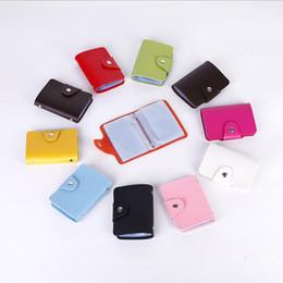 24-слот держатель карты для двухсторонних пластиковых визитных карточек малый размер многоцветный бизнес-пакет женщин автобус карты бумажник мужской Handba от