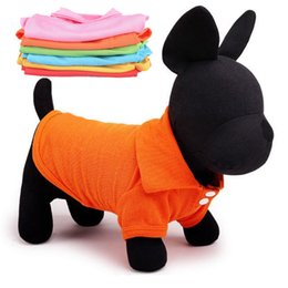 Wholesale T Shirt Decoration - Summer Dog Apparel Pinkycolor Kawaii Pet Clothes For Funny Decoration Multi Size Dogs POLO Shirt Suit Small Pets High Quality 4 4ab Z