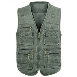 Wholesale Cheap Work Clothes - Men Work Cargo Vest Plus Size 7XL Big and Tall Mens Vests Outwear 7XL European and American Style Branding Clothes Cheap S2789