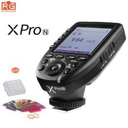 2019 экран dslr Free DHL Godox XPro-N 2.4G Wireless X-System E-TTL II HSS Flash Trigger Transmitter LCD Screen for  DSLR Camera дешево экран dslr