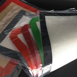 2019 estoques de borracha Em estoque grande tapete de silicone tapetes de cozimento de silicone personalizado não vara tapete de silicone com tapetes de corte de borracha fibferglass pad