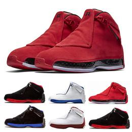 new style 20a41 0e03d vente en gros 18 Toro Gym Red Suede Sport Royal Hommes chaussures de  basketball bleu noir blanc rouge 18s formateurs de chaussures de sport  Sneaker nous 8- ...