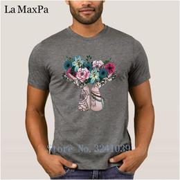 Blumenstraußfarbe beige online-Gedruckt Besser T-Shirt Kurzarm 2018 männer T-shirt Böhmischen Bouquet T-shirt Männer Einfarbig Plus Größe Heißer Verkauf