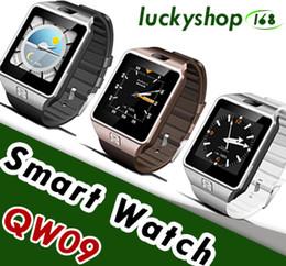 Wholesale Apple Pedometer - QW09 Android 3g Smart Watch Wifi Bluetooth 4.0 MTK6572 Dual Core 512MB RAM 4GB ROM Pedometer 3G Smartwatch Phone High Quality VS DZ09