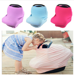 Wholesale Plastic Nurse - Multi-Use Stretchy Baby Car Seat Cover Carseat Canopy Nursing Cover Breastfeeding Privacy Nursing Shopping Cart Chair Cover LC766