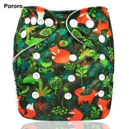 Wholesale wholesale price diaper - Pororo branded 1PC Waterproof digital printed baby One Size Pocket Cloth Diaper, reusable baby nappies wholesale price
