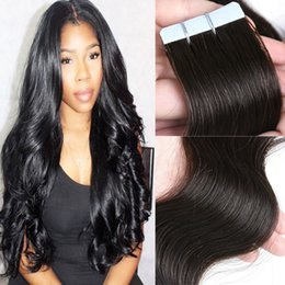 Remy Bande de Cheveux Humains en Cheveux Naturel Couleur 1B # Corps Vague 14-24 pouces 40PCS 100G Peau Trames Extensions de Cheveux ? partir de fabricateur
