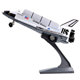 Wholesale models toys hobbies - Alloy Diecast Columbia Space Ship Space Shuttle Plane Airbus Pull Back Action Light&Sound Aircraft Model Kids Hobby Toys