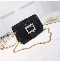 Wholesale Stripe Open Body - 4 colours Female 2018 chain bag new ins super fire summer chic lace mini party package joker inclined shoulder bag