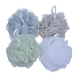 Wholesale wholesale bath brushes sponges - 60g Big Bath Shower Sponge Pouf Loofahs Mesh Body Shower Ball Back Scrubber Remove Dead Skin Bath Brush