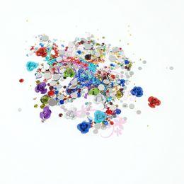 Canada 1 Pack Coloré Matt Rose En Aluminium Fleur Chaîne Perles De Métal En Verre Cristal Strass Nail Art Manucure Artisanat Résultats de Bijoux supplier arts crafts jewelry Offre