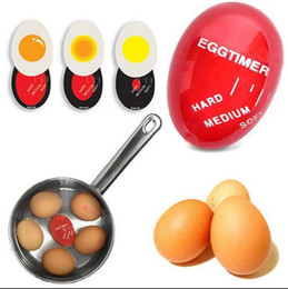 Wholesale Egg Cooking Timer - Egg Timer Creative Perfect Color Changing Egg Timer Soft Hard Boiled Eggs Cooking Kitchen Eco-Friendly Resin Eggs Timer OOA3956