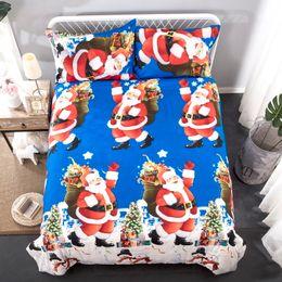 2 Stück American und europäischen Stil Santa Claus Bettwäsche-Set 1 Bettbezug und zwei Kissenbezüge Twin-Size-Bettdecken Heimtextilien GC004 von Fabrikanten