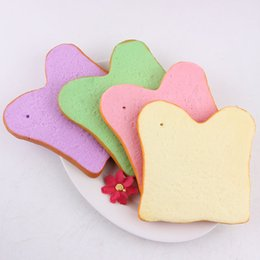 Wholesale Wholesale Old Cell Phones - Simulated Heart Shaped Toast Slice Squishies With Key Chain Cell Phone Charms Bread Scented Squishy Hot Sale 4 3mc BR