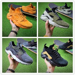 Wholesale New Shoes For Army - 2018 New Arrival Airs Huarache Ultra ID Wheats Yellow Army Sports Running Shoes for Women Mens Huaraches 4 Outdoor Casual Sneakers EUR 36-45