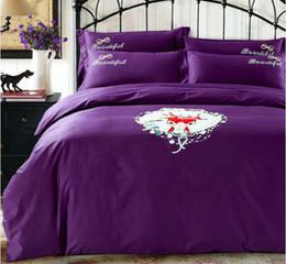 christmas comforters sets 2018 - Christmas King Size Comforter Set Cotton Embroidered Ensembles de literie Luxury bed comforters set King size bedding 60s Duvet Cover Bed sh