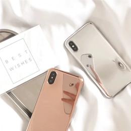 Argent doré miroir cas de téléphone pour iphone x 8plus antichoc souple TPU couverture arrière pour iphone 8 6 6s 7 plus ? partir de fabricateur