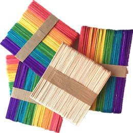 Multi couleur en bois crème glacée bâton enfants main artisanat art bricolage faire drôle enfants outils maternelle maternelle classe jouet 3xs y ? partir de fabricateur