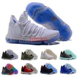 Wholesale B Grade Shoes - 2018 Zoom KD 10 Anniversary EP Oreo Red MVP Men Basketball Shoes KD 10 X Elite Low Kevin Durant Grade School Sport Sneaker