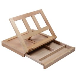 Cavalete de madeira on-line-FoldingPortable Artist Desk Easel Posições de madeira Multi Sketching Sketch Drawer