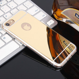Wholesale Iphone 5s Mirror Case - Deluxe Electroplating Mirror Shock Clear Soft TPU Gel Bumper Protective Cover Case For iPhone X 8 7 Plus 6 6S 5 5S Samsung Galaxy S9 Plus S8