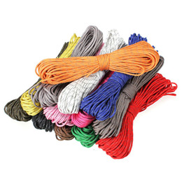 parachute cord bracelets Promo Codes - Hot Sale 10ft Reflective 550 Paracord Rope Type Iii 7 Strand Light Reflecting For Survival Parachute Cord Bracelets Paracord