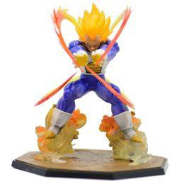 Wholesale Flash Retail - Retail Wholesale Anime Dragon Ball Z Super Saiyan Vegeta Battle State Final Flash PVC Action Figure Collectible Model Toy 15CM