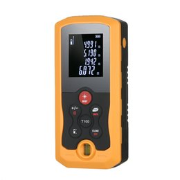 digital laser tool UK - 100m Hand-held laser rangefinder Mini construction tools Digital Laser Distance Meter laser tape measure 10 Groups Data Storage