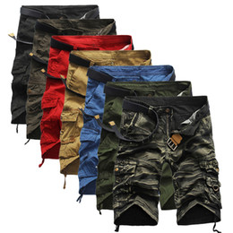 Wholesale Military Army Camouflage Shorts - Camouflage Camo Cargo Shorts Men 2018 New Mens Casual Shorts Male Loose Work Shorts Man Military Short Pants Plus Size 29-38